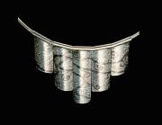 Neckpiece: silver, shakudo